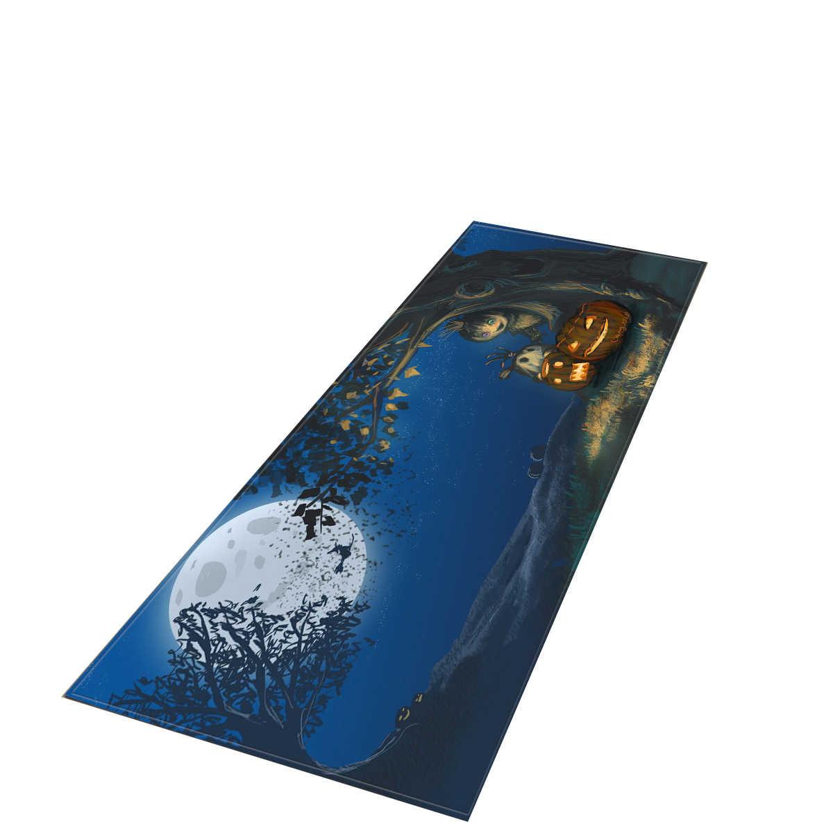 Zeegle ハロウィンカーペットロング長方形キッチンラグカーペットのリビングルームのカーペット廊下床敷物洗えるカーペット寝室用