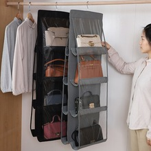 6 Pocket Foldable Hanging Bag Storage Organizer Transparent Storage Bag for Closet Shoes Door Wall Sundries Pouch