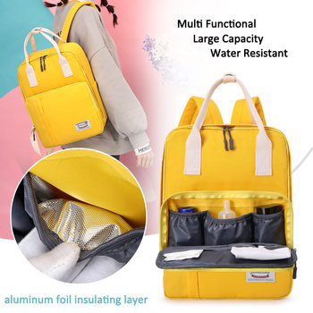 ZHUOGU Baby bags For Mommy multifunctional Large Capacity Travel Backpack water resistant materity Diaper Bags mother