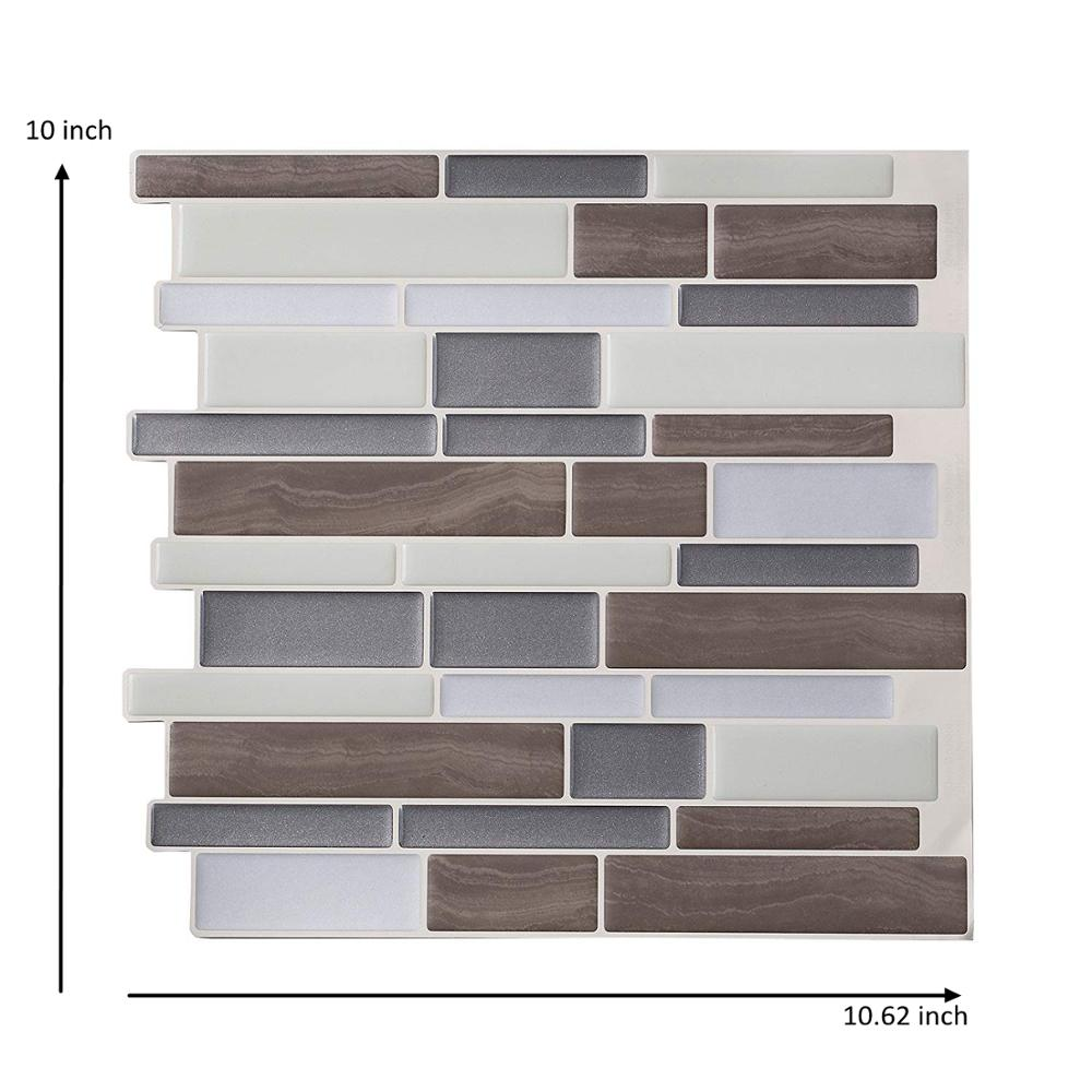 - 3D Peel And Stick Backsplash Tiles Mosaic Wall Sticker Easy To