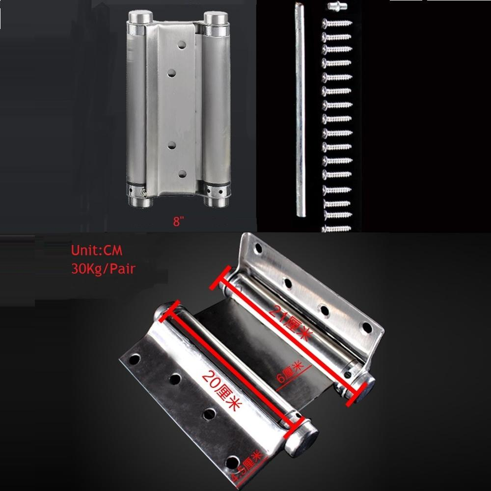 """Premintehdw 8"""" Stainless Steel Double Acting Action Barrel Spring Hinge Tension Adjustment Cafe Saloon Western Bar Pub"""