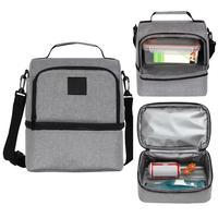 쌀 (회색) 40dc17와 다기능 냉장 아이스 팩 더블 점심 상자 점심 상자 절연 가방 점심 가방