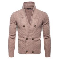 Мужской свитер, осенний Новый теплый пуловер с воротником, Повседневные свитера