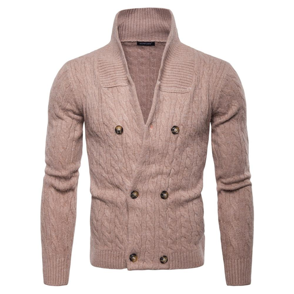 Men Sweater  Autumn New Warm Collar Pullover Casual Sweaters