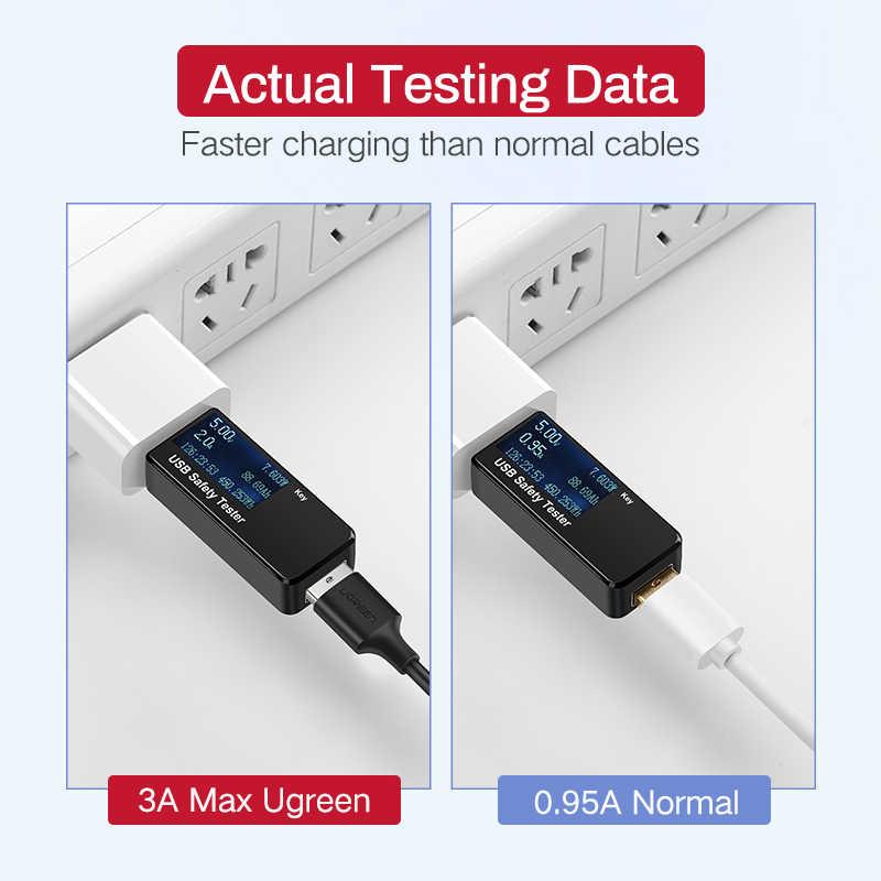 Ugreen المصغّر USB كابل 3A شحن سريع USB كابل بيانات الهاتف المحمول كابل شحن سامسونج HTC LG أندرويد اللوحي USB سلك
