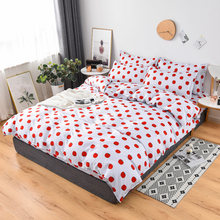 Home Textile Superfine Fiber Winter Thickening Bed Cover Flat Sheet Pillow Cases Bedding Linen Set No quilt(China)