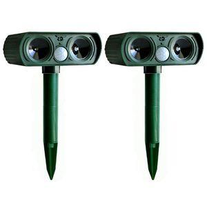 Image 1 - 2PCS Solar Repellent Cat Repeller Scarer Dual Ultra Deterrent Garden Animal Chaser