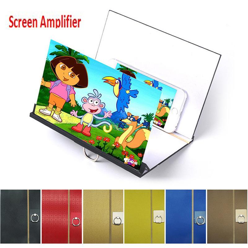 HobbyLane Mobile Phone Screen Magnifier 3D Video Magnifying Glass Eye Protector Multi-function Smart-phone Bracket Holder d35
