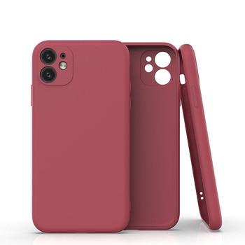 Protección de la cámara para iPhone 11 Pro Max XR XS Max 7 8 Plus XR XS caramelo Color sólido suave TPU a prueba de golpes contraportada regalos