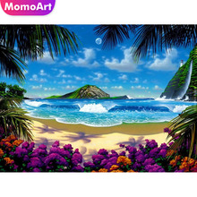 MomoArt Diamond Painting Seaside Embroidery Landscape Mosaic Full Drill Square Home Decoration Accessories