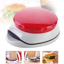 Пресс для бургеров машина для приготовления котлеты для гамбургера Регулируемый 1/4 фунтов 1/2 фунтов антипригарный Ручной пресс для фарша E2S