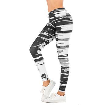 Legginsy sportowe z wysokim stanem dla kobiet sportowe legginsy slim dla kobiet w liściaste wzory tanie i dobre opinie Zohra CN (pochodzenie) REGULAR SEAM Spandex(10 -20 ) Kostek STANDARD Dzianiny JY005 WOMEN Streetwear Poliester Drukuj