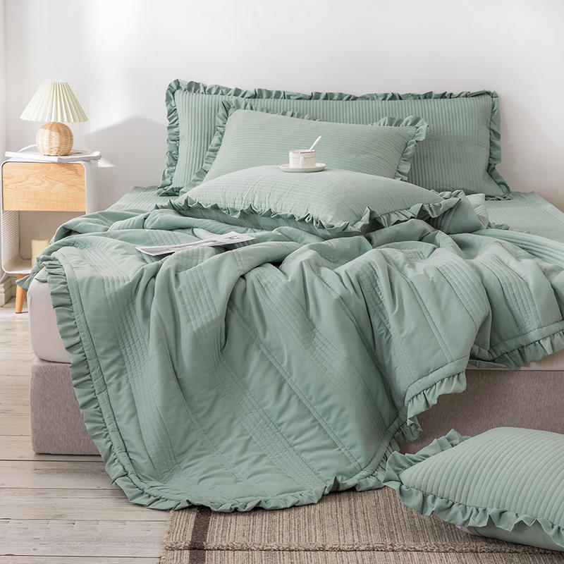 Bonenjoy 1pc Bedspreads Queen Size Quilted Bed Cover For Mattress Green Comforter King Size Coverlet Bedspread(no Pillowcase) Good Taste