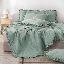 Bonenjoy 1Pc Bedspreads Queen Size Quilted Bed Cover for Mattress Green Comforter King Size Coverlet Bedspread(no pillowcase)