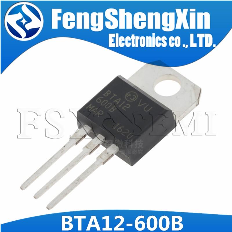 100 шт./лот BTA12 600B BTA12 12A/600V TO 220 двунаправленный триодный тиристор|Интегральные схемы|   | АлиЭкспресс