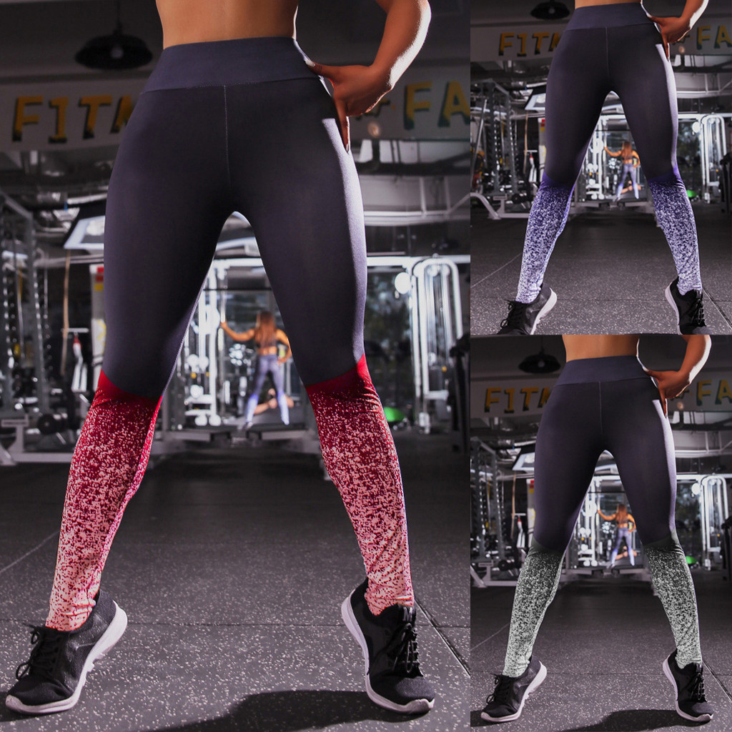 2019 Hot Women Printed Sport Leggings Push Up High Waist Sport Fitness Gym Sport Leggings Seamless Sexy Female Yoga Pants#15