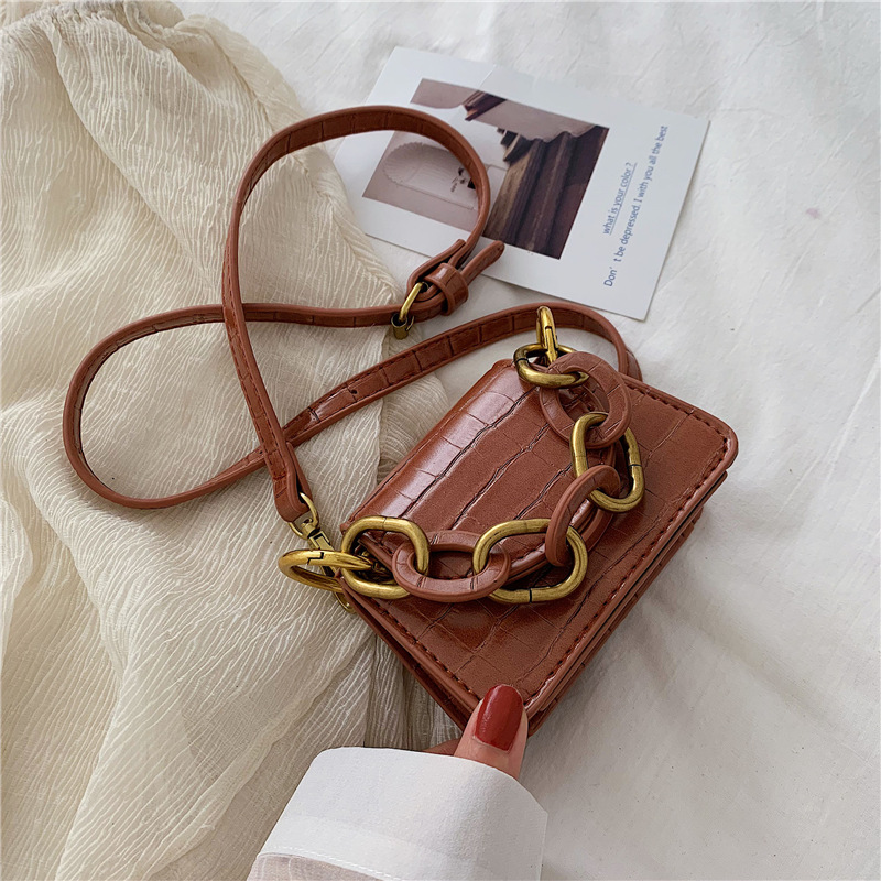 Crocodile Pattern Crossbody Bags For Women 2019 Small Chain Handbag small bag PU Leather Hand Bag Ladies Designer Evening Bags