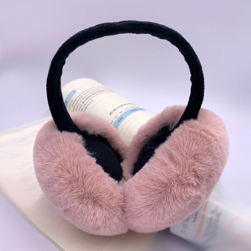 Women Folding Winter Accessories Fur Earmuff Men Warm Fashion Solid Earmuffs Kids Ear Warmer Fur Ear Cover Girl Ear Muffs Earlap