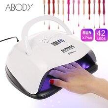 Светодиодная УФ лампа для ногтей, 80 Вт, Профессиональная УФ лампа для сушки гель лака, оборудование для маникюра