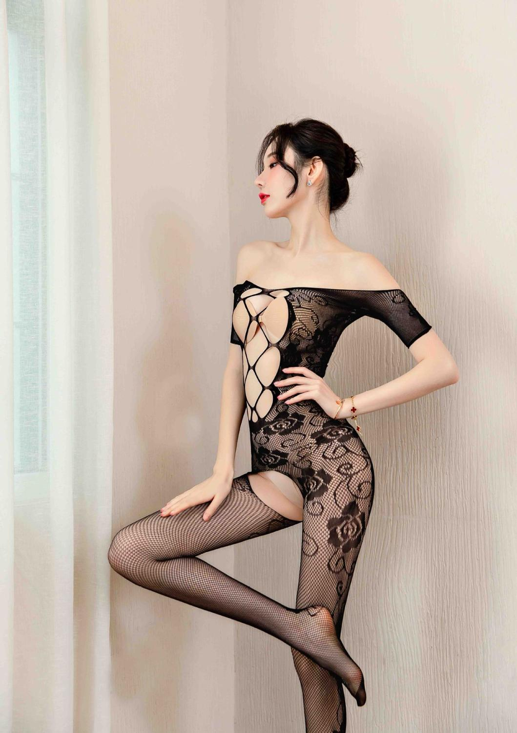 Plus Size Women Lingerie Sexy Hot Erotic Fishnet Babydoll lenceria Sexy Body Stocking Costumes Negligees