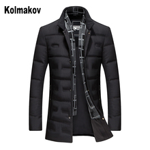 Duck Down Jacket Men #8217 s Jackets Autumn amp Winter Coat Men Lightweight Duck Down Jacket Men Overcoats Male casual down jacket Coat cheap KOLMAKOV Thick (Winter) QT6019-8903p290 REGULAR zipper Full Solid Broadcloth Polyester White duck down 100g-150g