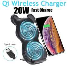 25W Qi Wireless Charger Stand Qi Fast Charge Phone Stand Multifunctional Wireless Charging Pad For iPhone 11 Pro Samsungs