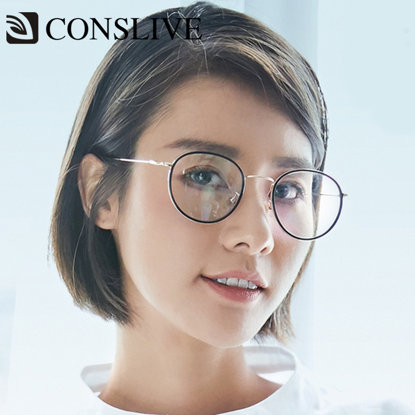 Round Prescription Glasses Frames Women Eye Sight Correction Eyeglasses Glasses Retro Optical Spectacles Frames 5188