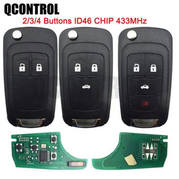 QCONTROL 2 3 4 przyciski kluczyk samochodowy z pilotem DIY dla OPEL VAUXHALL 433MHz dla Astra J Corsa E Insignia Zafira C 2009-2016 tanie i dobre opinie CN (pochodzenie) 2010 2011 2012 2013 2014 2015 Vehicle Keyless Entry Alarm ID46 Integrated Chip