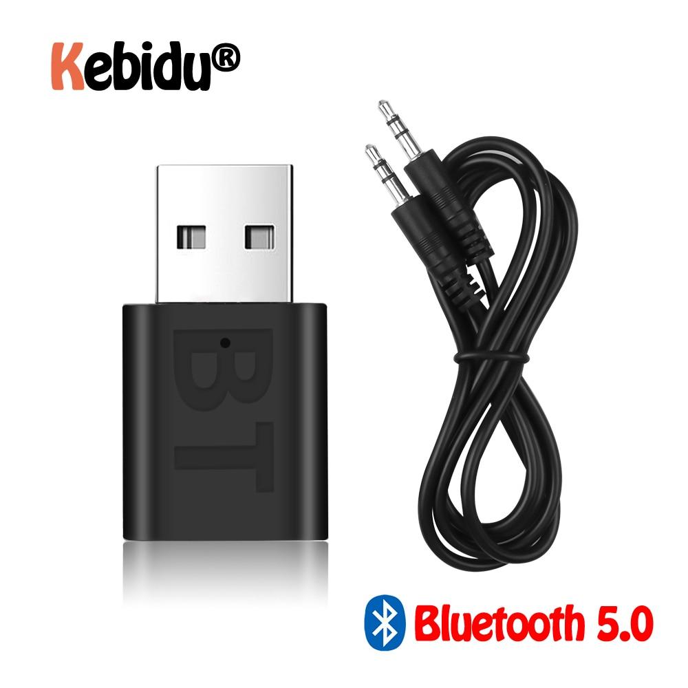 Новый USB беспроводной Bluetooth 5,0 приемник адаптер музыкальные колонки 3,5 мм AUX автомобильный стерео аудио адаптер для ТВ наушников
