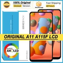 100% Оригинальный 6,4 ''Super AMOLED дисплей для Samsung Galaxy A11 A115F A115F/DS Полный ЖК-дисплей сенсорный экран дигитайзер Запасные части
