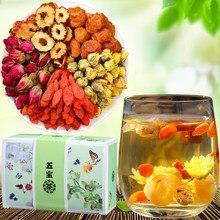 Longan, Wolfberry, Red Dates, Tea, Nourishing, Blood, Tea, Rose Tea, Health Tea, Beauty Five Treasures Tea