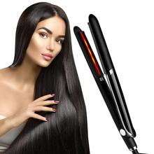 infrared hairdressing tools 2 in 1 infrared ceramic flat iron hair stra