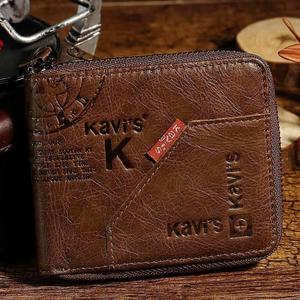 Image 5 - KAVIS 100% Genuine Leather Wallet Men Coin Purse Male Cuzdan Small Walet Portomonee Rfid Mini PORTFOLIO Vallet Perse Card Holder