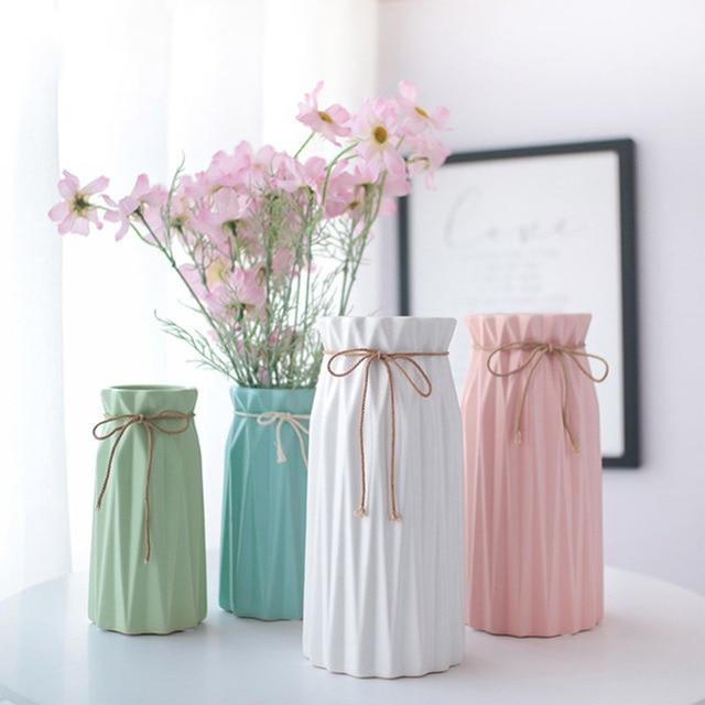 Anti-ceramic Vase Home Decoration European-style Rural Style Plastic Vase Flower Basket Anti-fall Creative Wedding Decoration 1