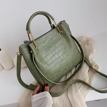 Stone Pattern PU Leather Bucket Bags For Women 2019 Small Sh