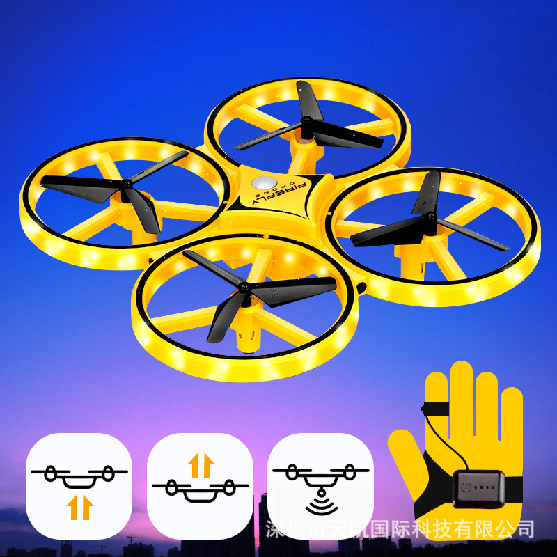 Hot Selling Douyin Celebrity Style Gravity Sensing Watch Unmanned Aerial Vehicle Gesture Control Sensing Quadcopter Remote Contr