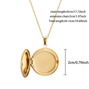Personalized Smooth Round Pendant Necklace For Couples Customized Name Post Photos Accessories Jewelry 2