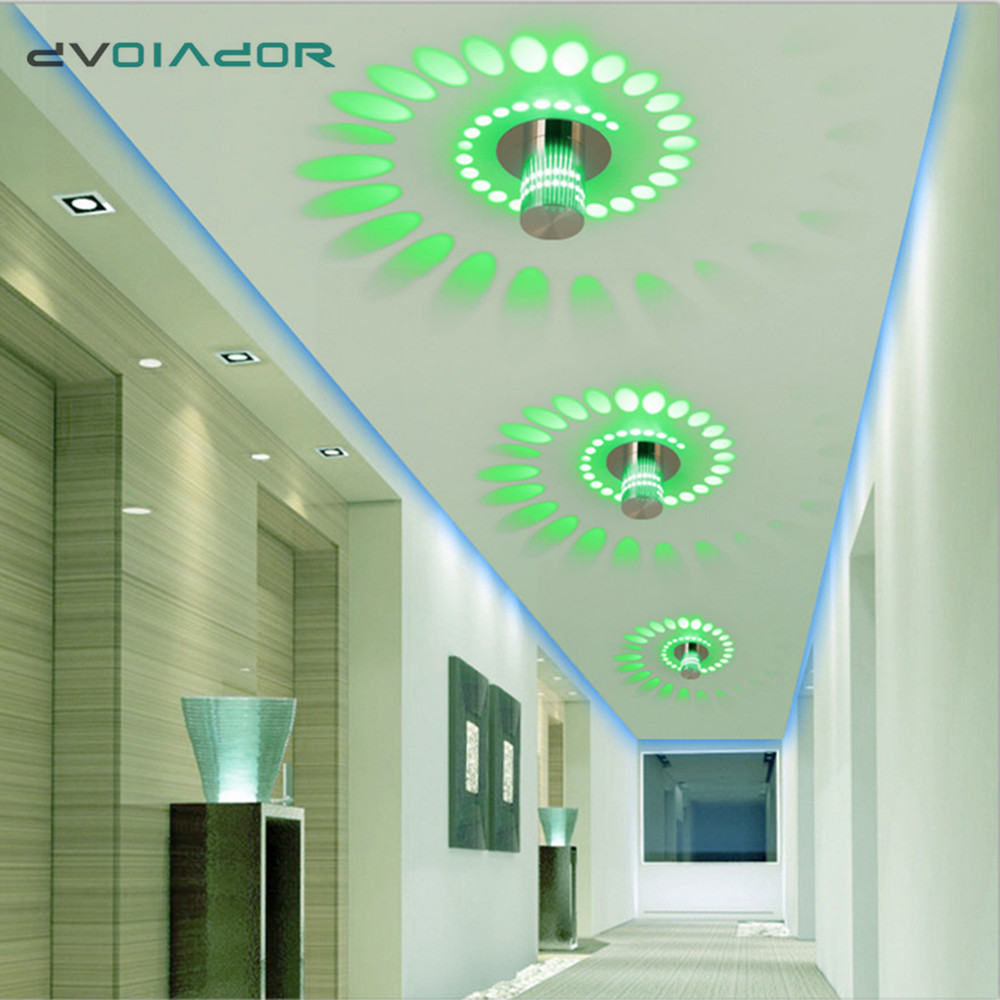 Led Downlight Colorful Recessed Ceiling Lamp Surface Mounted Led Spot Lamp 3W  Corridor KTV Bar Party Hotel Ceiling Downlight