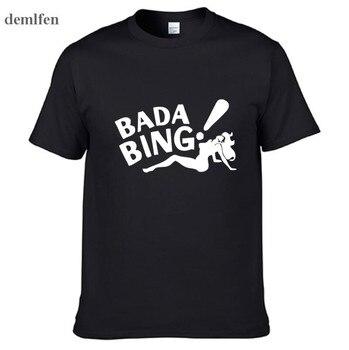The Sopranos Bada Bing Fashion Men's T-shirts Short Sleeve 100% Cotton White T Shirts Man  Tops Tees Clothing - discount item  20% OFF Tops & Tees