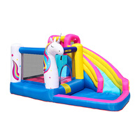 Unicorn Inflatable Bounce House Bouncer Castle Water Slide With Pool and CE UL Blower
