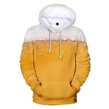 hoodie sweatshirts 3D Fashion Beer Print hoodie Men/Women Novelty Tops Leisure Beer get together Unisex Clothing Couple pers