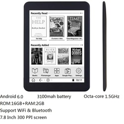 16GB E buch 7,8 zoll touch HD bildschirm e-book-reader Octa-core android WiFi Ereader Bluetooth audio E -tinte 3100mah batterie + kopfhörer