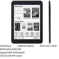 16GB E book 7.8 inch touch HD screen E-book reader Octa-core android WiFi Ereader Bluetooth audio E-ink 3100mah battery+earphone