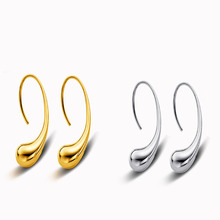 HIYONG 2 Colors Earring Silver/Gold Water Drop/Raindrop Plated High Quality Earrings Fashion Popular Jewelry Gift