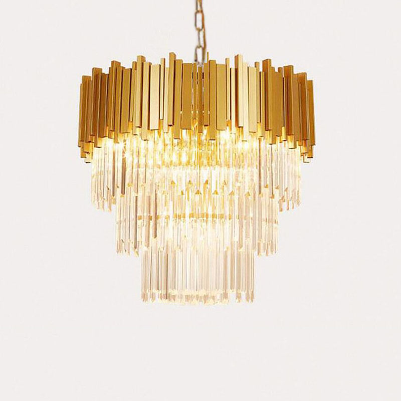 Manggic Luxury Stainless Steel Crystal Chandelier For Living Room Modern Gold Crystal Chandelier LED Lights