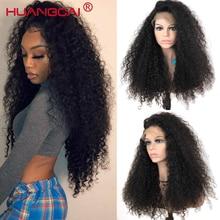 Kinky encaracolado 360 laço frontal remy peruca brasileira para as mulheres do laço frontal perucas de cabelo humano pré arrancadas 150% densidade kinky perucas humanas
