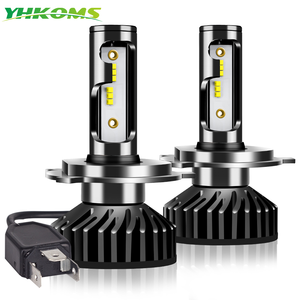 YHKOMS H4 <font><b>Led</b></font> <font><b>Canbus</b></font> ZES H1 H7 <font><b>LED</b></font> 100W 12000LM H8 <font><b>H9</b></font> H11 9005 HB3 9006 HB4 H3 880 881 H27 Car Headlight Anti EMC No Error 12V image