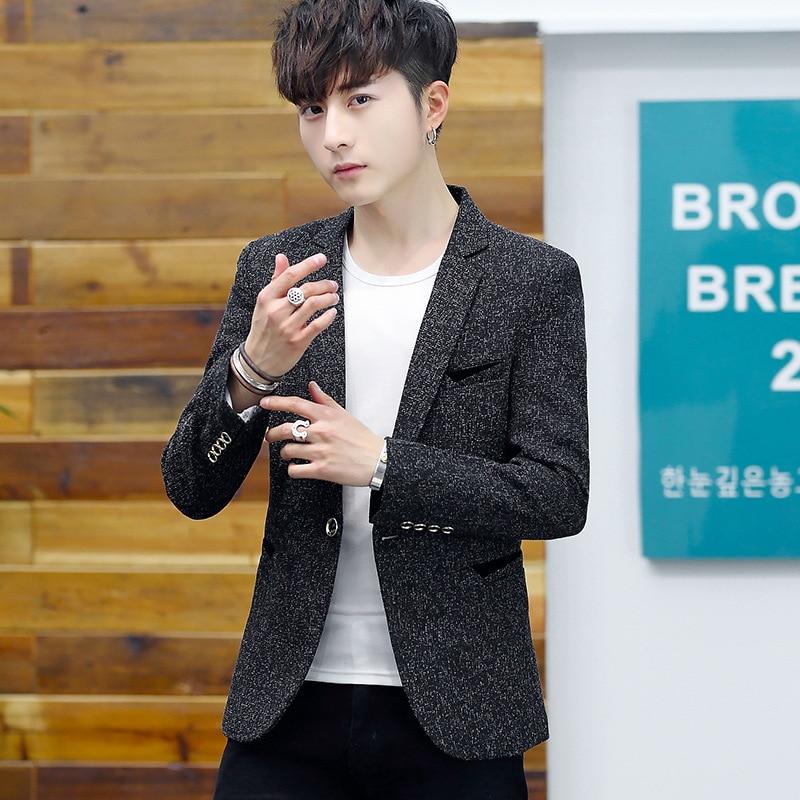 Korean-style Small Suit Men's Slim Fit Suit Trend Men Students Spring And Autumn Casual Suit MEN'S Thin Suit Coat