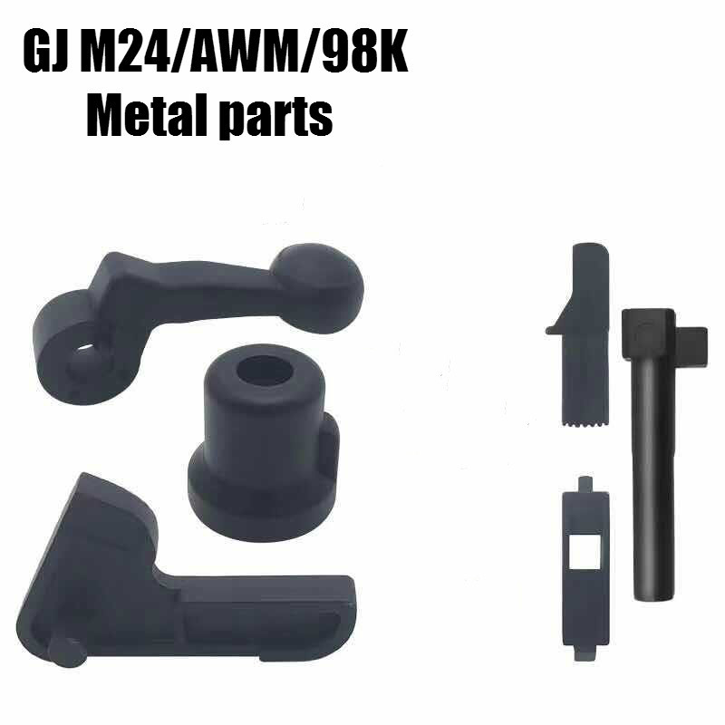GJ M24 AWM 98K 7pcs set Metal accessories water gel balster gun toy outdoor toys for children