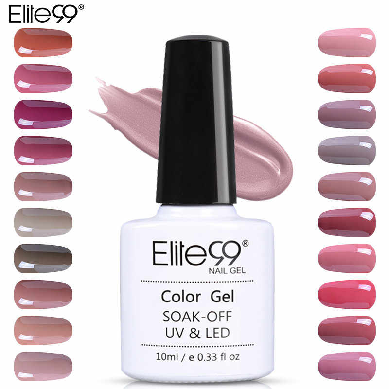 Elite99 Gel esmalte de uñas 10ml Nude gel Color base esmalte gel clavo híbrido brillo Gel laca para barnices para uñas de mano